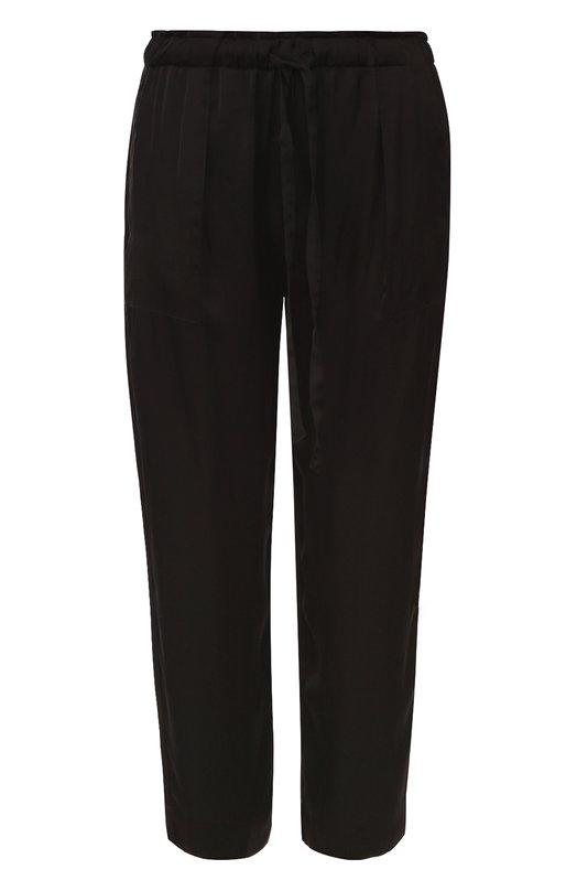 Укороченные брюки прямого кроя с эластичным поясом Raquel Allegra