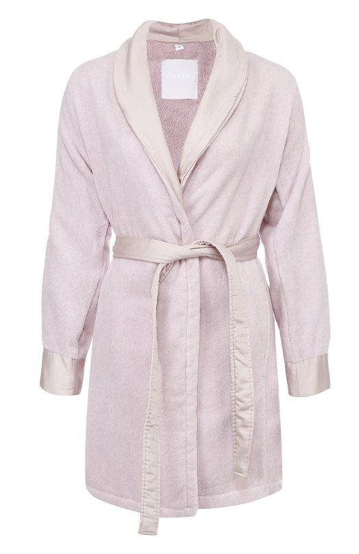 Хлопковый халат с карманами и поясом La Perla CLPACCAP