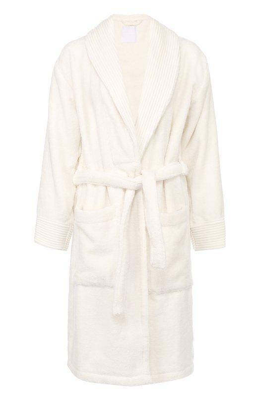 Хлопковый халат с накладными карманами и поясом La Perla NERACCAP