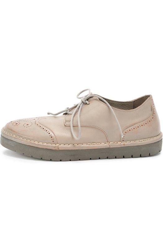 Кожаные ботинки с брогированием MarsellБотинки<br><br><br>Российский размер RU: 37<br>Пол: Женский<br>Возраст: Взрослый<br>Размер производителя vendor: 37<br>Материал: Кожа натуральная: 100%; Стелька-кожа: 100%; Подошва-резина: 100%;<br>Цвет: Серый