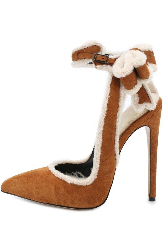 Замшевые туфли с отделкой мехом Aleksandersiradekian M0DEL 4 KIKA/M0NT0NE