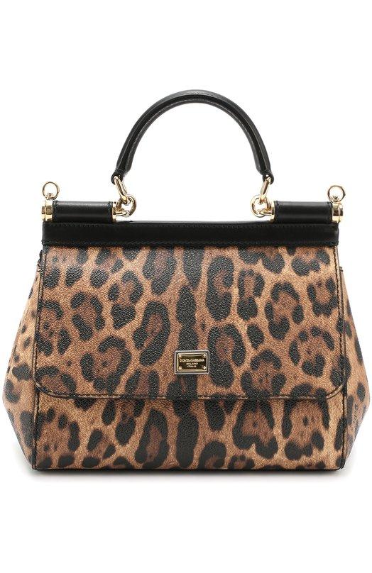Сумка Sicily small с леопардовым принтом Dolce & Gabbana 0116/BB6003/A7158