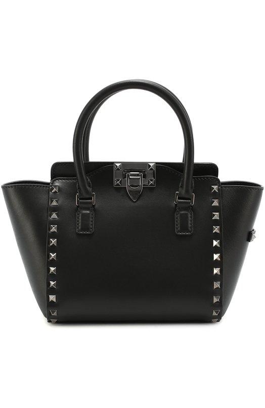 Купить Сумка-тоут Rockstud Noir mini Valentino, LW2B0856/VB4, Италия, Черный, Кожа натуральная: 100%;