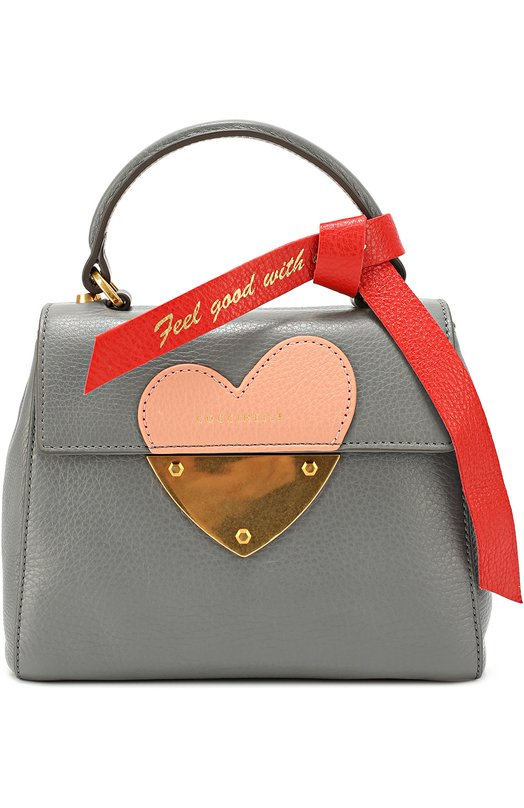Сумка B14 In Love mini CoccinelleЖенские сумки<br><br><br>Пол: Женский<br>Возраст: Взрослый<br>Размер производителя vendor: NS<br>Материал: Кожа натуральная: 100%;<br>Цвет: Серый