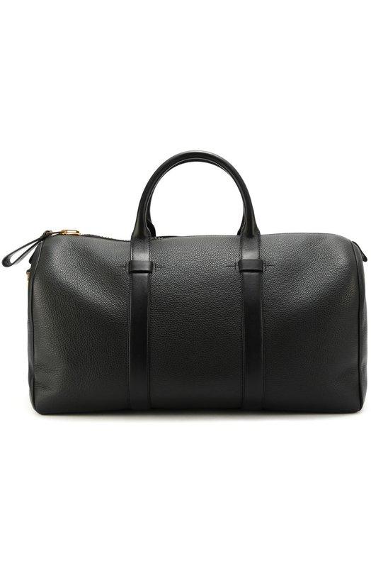 Кожаная дорожная сумка с плечевым ремнем Tom Ford H0187TALG