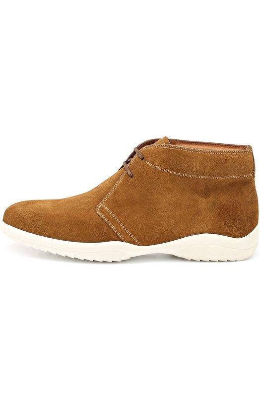 Замшевые ботинки на толстой подошве Bally MILK0M