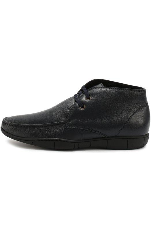 Кожаные ботинки на шнуровке A. Testoni M80447BXH/MERIN0S DEER