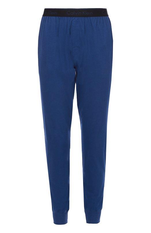 Хлопковые брюки на широкой резинке с манжетами Calvin KleinДомашние брюки<br><br><br>Российский размер RU: 50<br>Пол: Мужской<br>Возраст: Взрослый<br>Размер производителя vendor: L<br>Материал: Хлопок: 100%;<br>Цвет: Синий