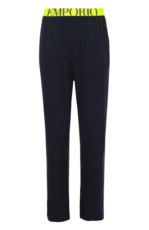 Хлопковые брюки на широкой резинке Emporio Armani 111403/6A725