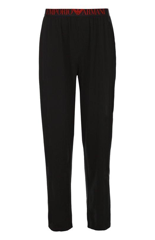 Хлопковые брюки на широкой резинке Emporio Armani 111403/6A595