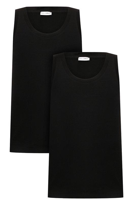 Комплект из двух хлопковых маек с круглым вырезом Dolce & Gabbana 0121/N9A11J/00025