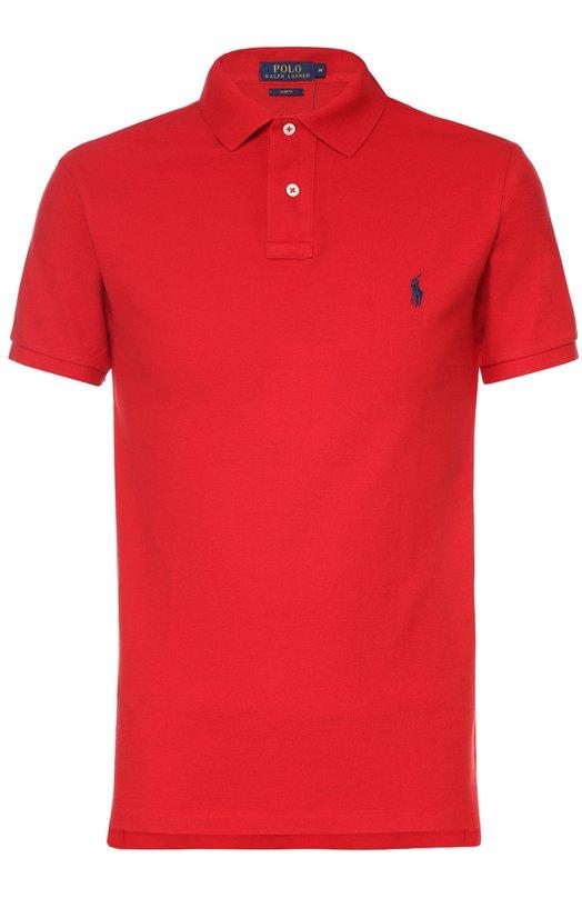 Хлопковое поло с короткими рукавами Polo Ralph LaurenПоло<br><br><br>Российский размер RU: 52<br>Пол: Мужской<br>Возраст: Взрослый<br>Размер производителя vendor: XL<br>Материал: Хлопок: 100%;<br>Цвет: Красный
