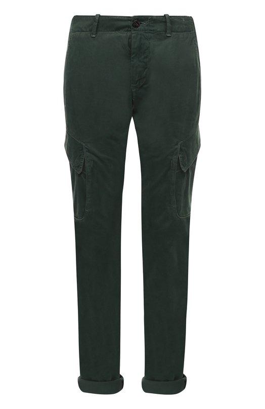 Хлопковые брюки карго Stone IslandБрюки<br><br><br>Российский размер RU: 44<br>Пол: Мужской<br>Возраст: Взрослый<br>Размер производителя vendor: 29<br>Материал: Хлопок: 97%; Эластан: 3%;<br>Цвет: Зеленый
