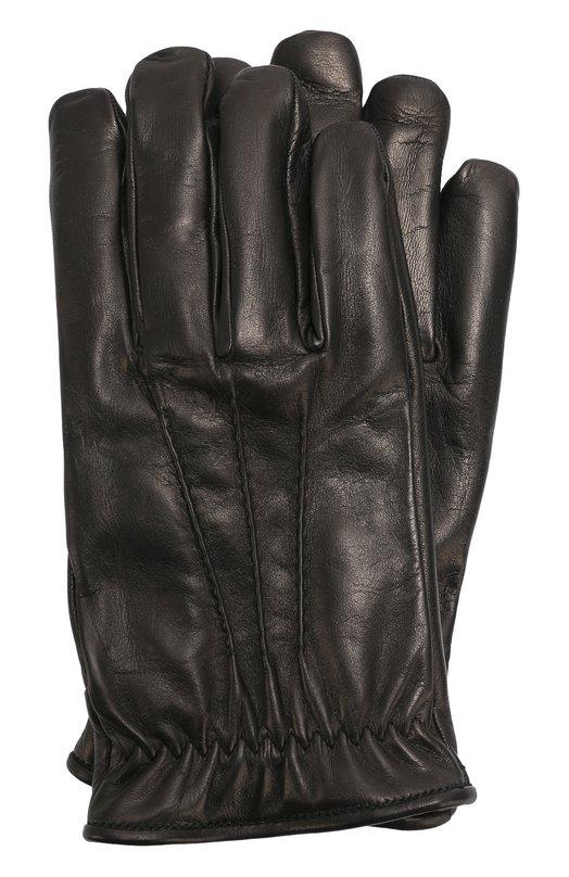 Кожаные перчатки с подкладкой из кашемира Brioni 05R8/04752