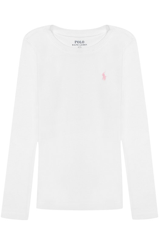 Хлопковый лонгслив с логотипом бренда Polo Ralph Lauren H10/307CW/302CW