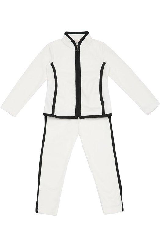 Спортивный костюм с контрастной окантовкой Moncler Enfant B2-954-88543-05-80379/4-6