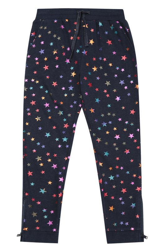 Спортивные брюки с аппликациями в виде звезд Stella McCartneyСпорт<br><br><br>Размер Years: 8<br>Пол: Женский<br>Возраст: Детский<br>Размер производителя vendor: 128-134cm<br>Материал: Хлопок: 100%;<br>Цвет: Синий