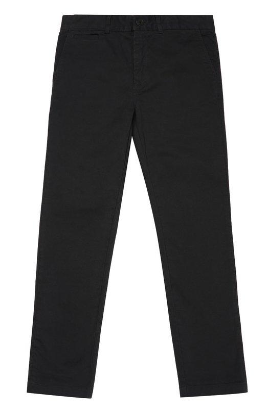Хлопковые брюки прямого кроя Burberry 4018226