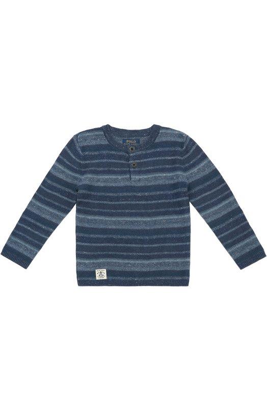 Хенли из смеси льна и хлопка с длинными рукавами Polo Ralph LaurenФутболки<br><br><br>Размер Years: 2<br>Пол: Мужской<br>Возраст: Детский<br>Размер производителя vendor: 92-98cm<br>Материал: Лен: 59%; Хлопок: 41%;<br>Цвет: Синий