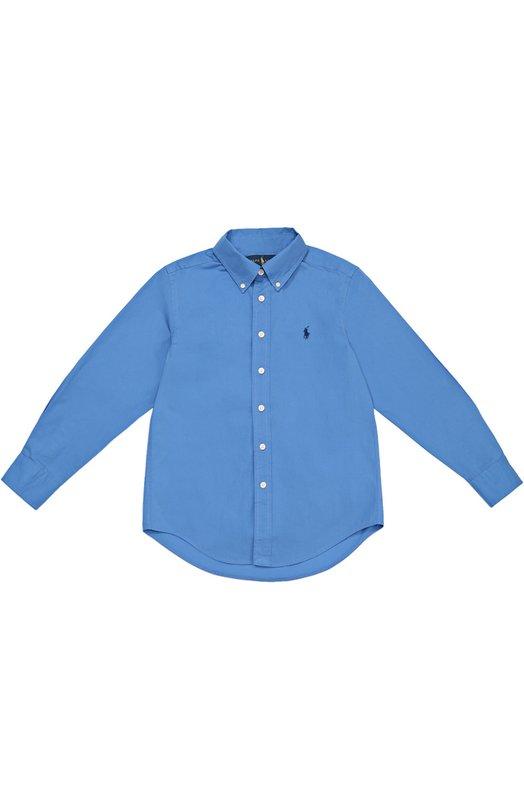 Хлопковая рубашка с воротником button down Polo Ralph Lauren B04/593F6/593F6
