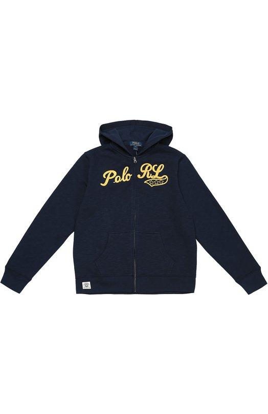 Хлопковая толстовка на молнии с капюшоном Polo Ralph Lauren B10/296F6/296F6