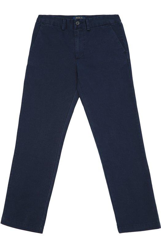 Хлопковые брюки прямого кроя Polo Ralph LaurenБрюки<br><br><br>Размер Years: 16<br>Пол: Мужской<br>Возраст: Детский<br>Размер производителя vendor: 164-170cm<br>Материал: Хлопок: 100%;<br>Цвет: Синий