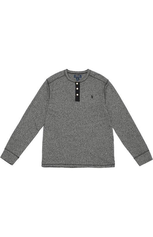 Хлопковая футболка хенли с длинными рукавами Polo Ralph Lauren B10/428F6/428F6