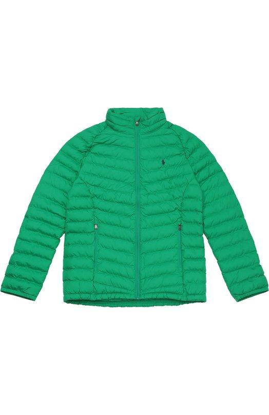 Утепленная стеганая куртка на молнии Polo Ralph Lauren B30/372F6/372F6
