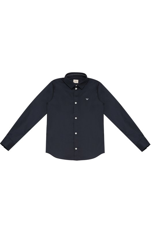 Хлопковая рубашка с воротником кент Giorgio Armani 6X4C12/4NBBZ/11A-16A