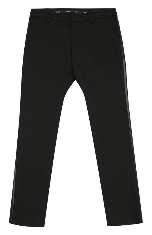Хлопковые брюки прямого кроя с лампасами Giorgio Armani 6X4P04/4N0IZ/4A-10A