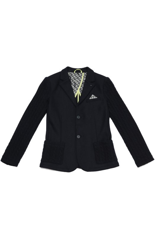 Шерстяной однобортный пиджак Giorgio Armani 6X4G09/4J0BZ/11A-16A