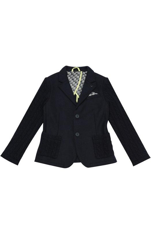 Шерстяной однобортный пиджак Giorgio Armani 6X4G09/4J0BZ/4A-10A