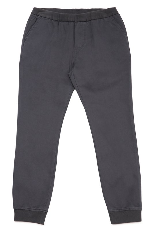 Хлопковые брюки с манжетами Giorgio ArmaniБрюки<br><br><br>Размер Years: 12<br>Пол: Мужской<br>Возраст: Детский<br>Размер производителя vendor: 146-152cm<br>Материал: Хлопок: 98%; Эластан: 2%;<br>Цвет: Темно-серый