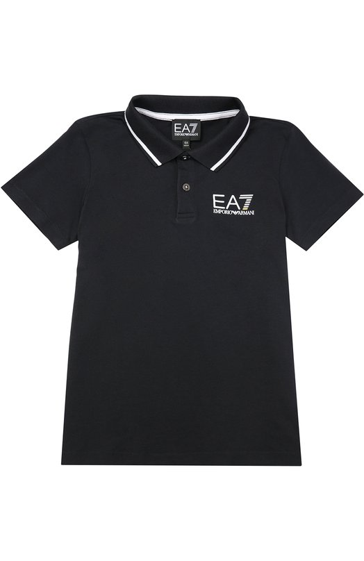 Хлопковое поло с короткими рукавами Ea 7 6XBF50/BJ02Z