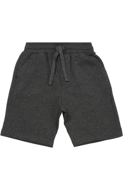 Хлопковые шорты с карманами Dolce &amp; GabbanaШорты<br><br><br>Размер Years: 4<br>Пол: Мужской<br>Возраст: Детский<br>Размер производителя vendor: 104-110cm<br>Материал: Хлопок: 100%;<br>Цвет: Серый