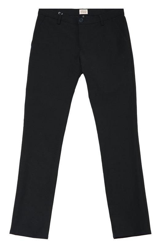 Брюки прямого кроя с добавлением шерсти Giorgio Armani 6X4P10/4N06Z/11A-16A