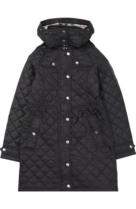 Стеганое пальто с капюшоном Burberry 4031438
