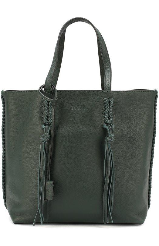 Сумка-шоппер Gipsy medium Tod'sЖенские сумки<br><br><br>Пол: Женский<br>Возраст: Взрослый<br>Размер производителя vendor: NS<br>Материал: Кожа натуральная: 100%;<br>Цвет: Зеленый