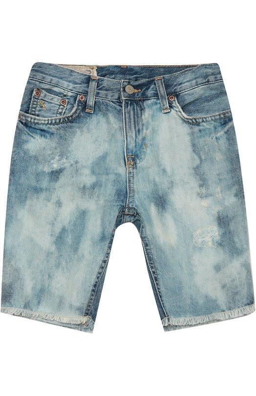 Джинсовые шорты с необработанным краем Polo Ralph Lauren K24/193U6/052U6