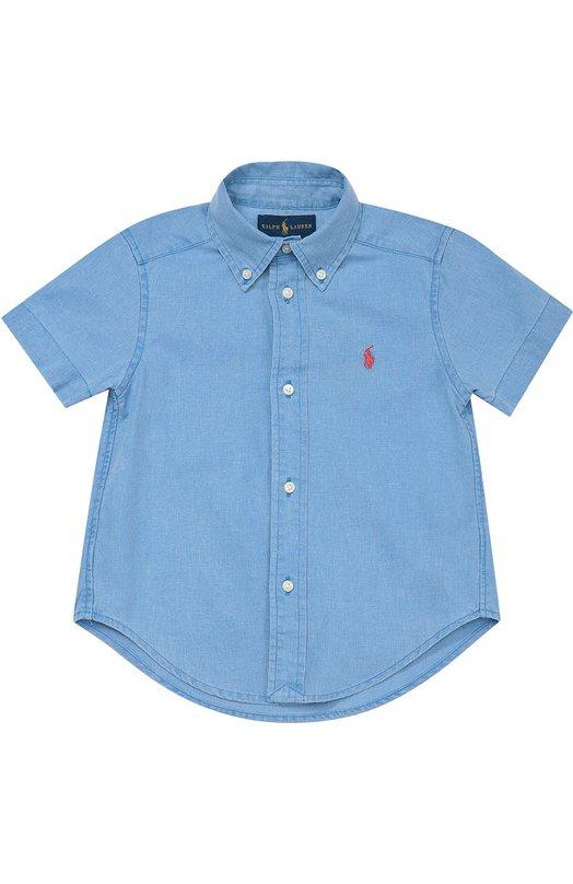 Рубашка из смеси льна и хлопка с короткими рукавами Polo Ralph Lauren T04/197U6/090U6