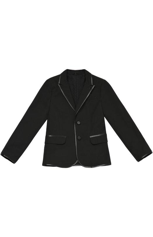 Однобортный пиджак из эластичного хлопка Giorgio Armani 6X4G02/4N0IZ/4A-10A