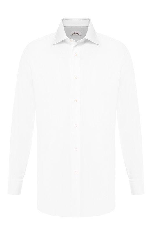 Купить Хлопковая сорочка с воротником кент Brioni, RCL9/PZ065, Италия, Белый, Хлопок: 100%;