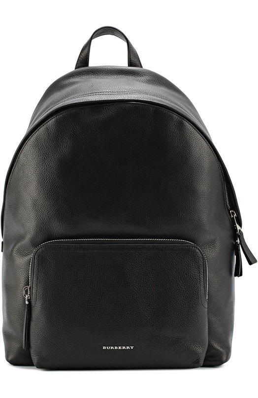 Кожаный рюкзак с внешним карманом на молнии Burberry 4019702