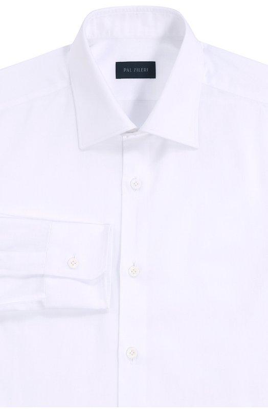 Хлопковая сорочка с воротником акула Pal ZileriРубашки<br><br><br>Российский размер RU: 38<br>Пол: Мужской<br>Возраст: Взрослый<br>Размер производителя vendor: 38<br>Материал: Хлопок: 100%;<br>Цвет: Белый