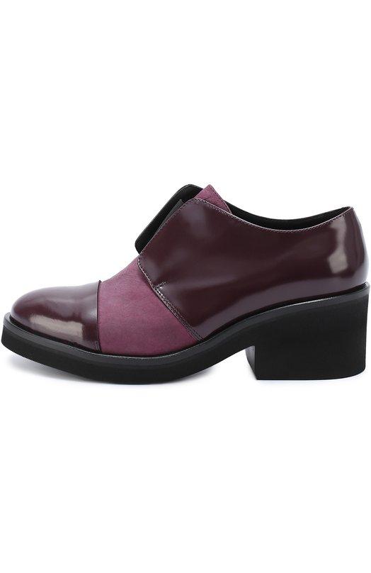 Кожаные ботинки на массивном каблуке VicБотинки<br>Мастера бренда сшили бордовые ботинки на устойчивом широком каблуке средней высоты из гладкой лакированной кожи. Модель вошла в осенне-зимнюю коллекцию 2016 года. Союзка декорирована вставкой из сиреневого нубука. Вместо шнуровки — широкая эластичная резинка.<br><br>Российский размер RU: 39<br>Пол: Женский<br>Возраст: Взрослый<br>Размер производителя vendor: 39-5<br>Материал: Кожа натуральная: 100%; Стелька-кожа: 100%; Подошва-резина: 100%;<br>Цвет: Бордовый