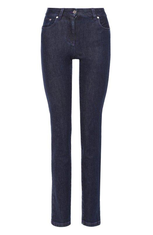 Купить Укороченные джинсы-скинни с завышенной талией Emilio Pucci, 66/DT05/66990, Италия, Темно-синий, Хлопок: 98%; Эластан: 2%;