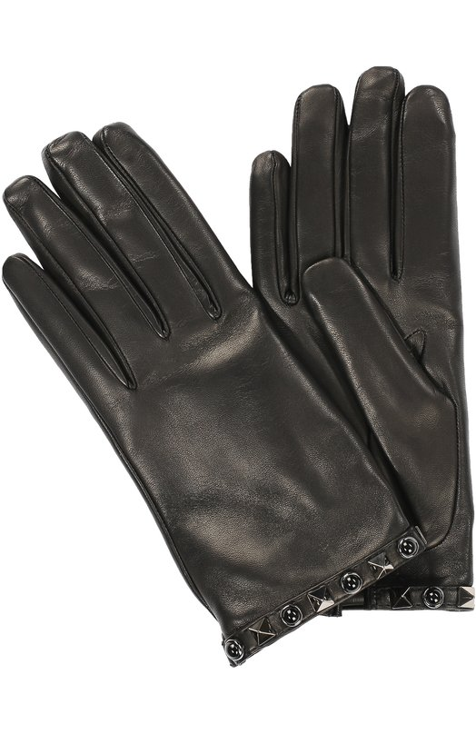Кожаные перчатки Rockstud Rolling Noir Valentino LW2G0267/N0K