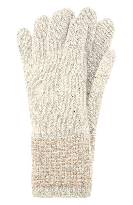 Перчатки из кашемира фактурной вязки Johnstons Of ElginПерчатки<br><br><br>Пол: Женский<br>Возраст: Взрослый<br>Размер производителя vendor: NS<br>Материал: Кашемир: 100%;<br>Цвет: Бежевый