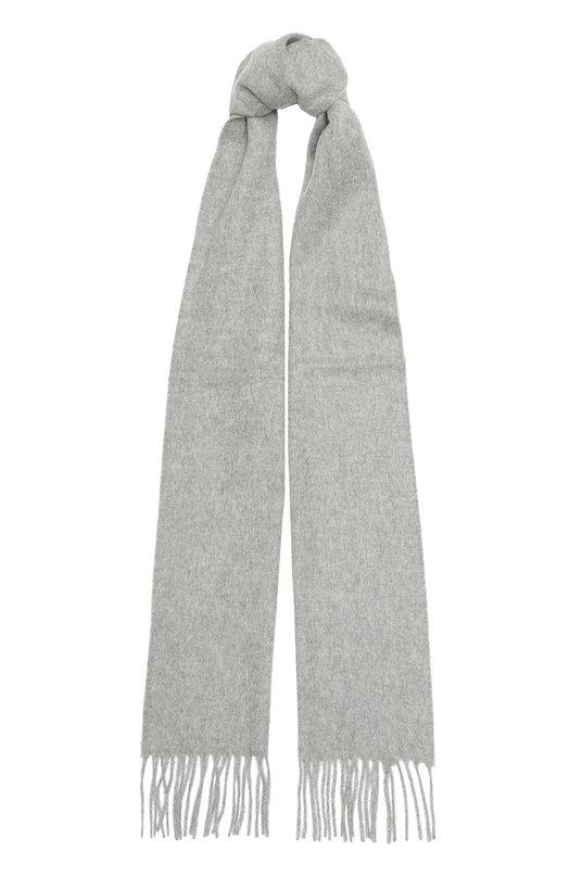 Кашемировый шарф с бахромой Johnstons Of ElginШарфы<br><br><br>Российский размер RU: 180<br>Пол: Женский<br>Возраст: Взрослый<br>Размер производителя vendor: 180X25<br>Материал: Кашемир: 100%;<br>Цвет: Светло-серый