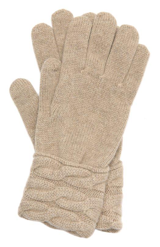 Купить Вязаные перчатки из кашемира Kashja` Cashmere, 382-12, Италия, Бежевый, Кашемир: 100%;